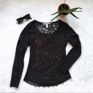 Black lace long sleeve {American Rag}